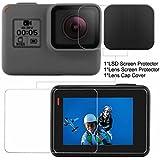 2 Pcs Screen Protector (Screen And Lens) For Hero 5 Black