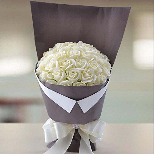 Cadeau de Noël Rose Savon Fleur Bouquet artificiel Boîte de bonbons Cadeau de mariage comme un cadeau à votre petite amie / soeur / mère en Festival Days