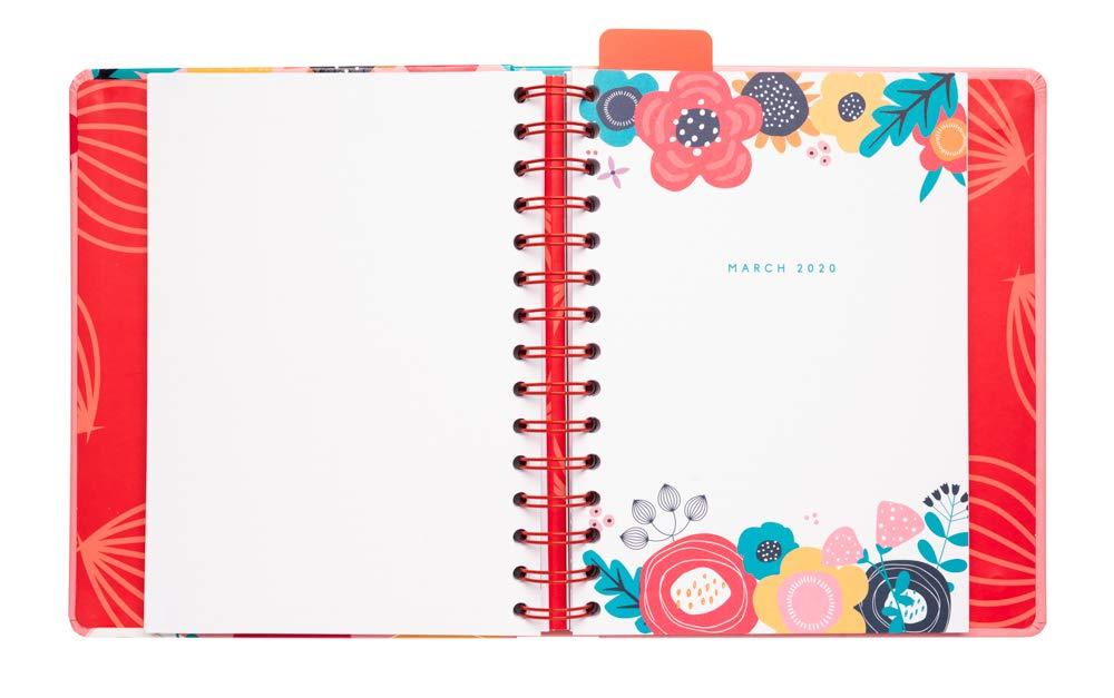 Blummen Erik/® 10 mesi Agenda con Planner Giornaliero 2019//2020
