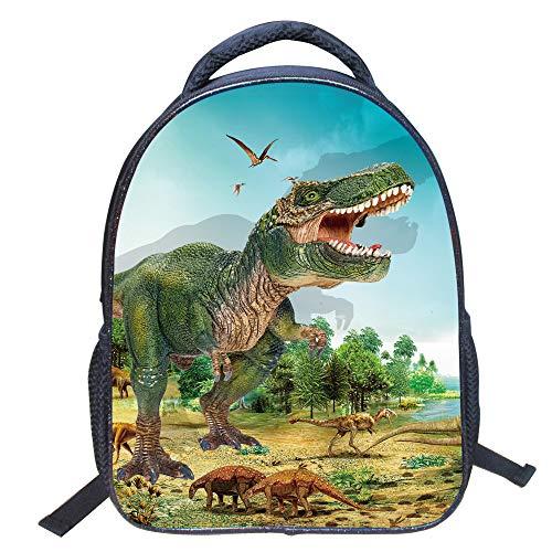 Sacchetto del fumetto per bambini14pollici nella scuola materna zaino di dinosaurolmodellizz43dinosauri