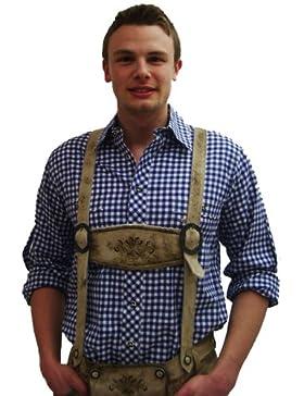 Trachtenhemd Köppingen | blau-weiß kariert | Langarm Gr. XS-4XL | 100% Baumwolle | Spieth & Wensky
