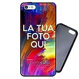 Curci Roberto Cover Personalizzata per iPhone 5 5S SE con foto e dedica Idea regalo - Gomma