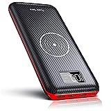 KEDRON Power Bank 24000mAh Caricabatterie Portatile Caricatore Wireless con Display LCD Digitale e 3...