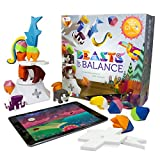 Beasts of Balance digital tabletop hybrid stacking family game, ages 6+. Build towers and stack magical artefacts. Free app for iOs, Android and Amazon Fire. 25 PCS
