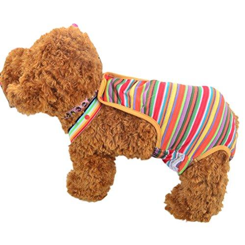 Zrong Haustier Waschbare Schutzhose Unterhose Unterwäsche Sicherheit Einstellbar Hunde Kleidung Hunde Hose Pant Panty Windel fuer Weibliche Zufällige Farbe - 3