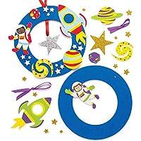 Baker Ross Kits de couronnes système Solaire (Lot de 2) - Loisirs créatifs pour Enfants