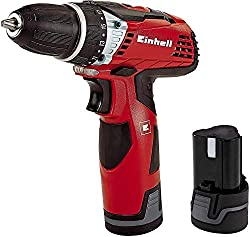 Einhell cordless screwdriver TE-CD 12 Li (lithium ion, 12 V, 1,3 Ah, 2 gear, 25 Nm, LED light, incl. 2 batteries, quick charger and case)