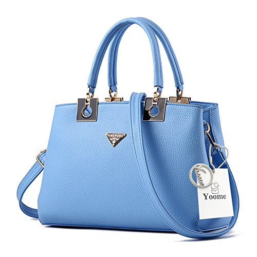 Yoome borse grandi borse per le donne Top Tote Handle Borse eleganti Borse donna con cinghie - Viola Blu