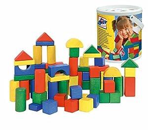 Woodyland Bloques en un Cubo con una Forma de Tapa de clasificación, 45 Piezas