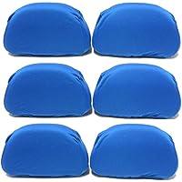 AERZETIX: Juego de 6 fundas reposacabezas universales, Color azul