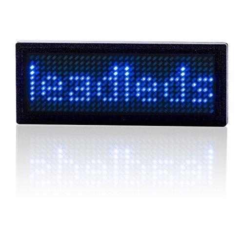 Leadleds® Wiederaufladbares, programmierbare Scrolling-LED-Schild für Ihr T-Shirt, Nachricht bewegt sich auf dem Display - Scrolling-display