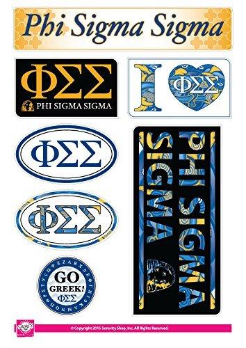 Phi Sigma Sigma Sheet - Lifestyle Theme  8 5 x 12, 7 Stickers Per Sheet  by  Sorority Shop