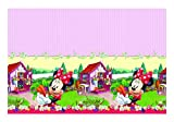 Unique Party Supplies Plastic Jam Disney Minnie-Maus-Tischdecke, Verpackt, 1,8 m x 1,2 m
