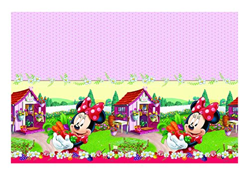 Unique Party Supplies Plastic Jam Disney Minnie-Maus-Tischdecke, Verpackt, -