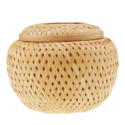 MagiDeal Kiste Mini Handgefertigte Bambus Tee Geschenk Körbe Schreibtisch Box Umhüllung Gehen - Mini-bambus-box