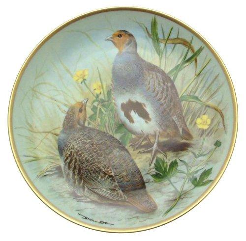 Franklin Porcelain C1979 Haviland Limoges Gamebirds du Monde Basil Ede Commune Perdrix Assiette Cp1877