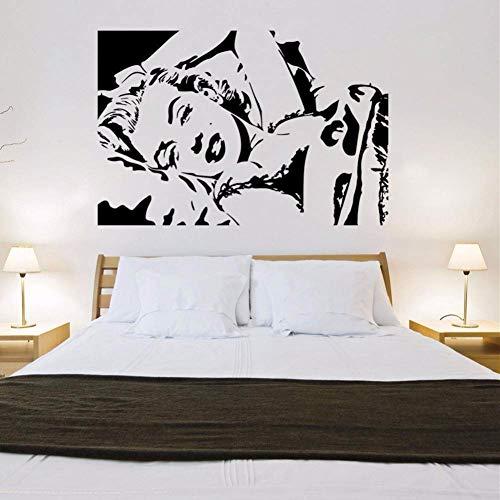 GQFGYYL-QD Mauer Aufkleber grün Charakter Avatar Marilyn Monroe wohn - und Schlafzimmer Dekoration wandsticker
