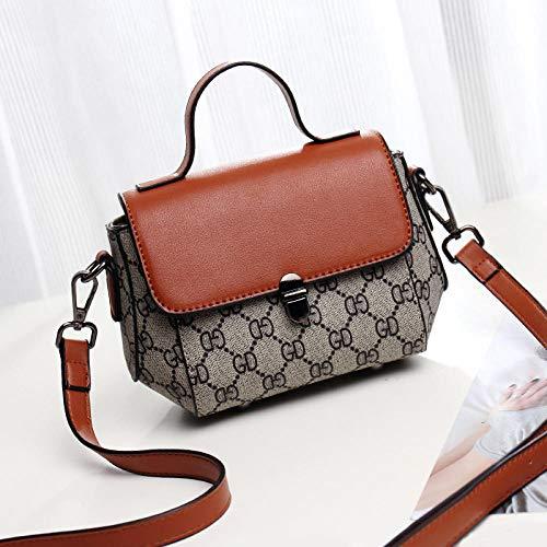 Fyyzg koreanische Version der neuen weiblichen Tasche Druck tragbare Schwein Tasche Schulter Diagonale Flut weiblichen Beutel Mode großen Alten Blumensack - braun