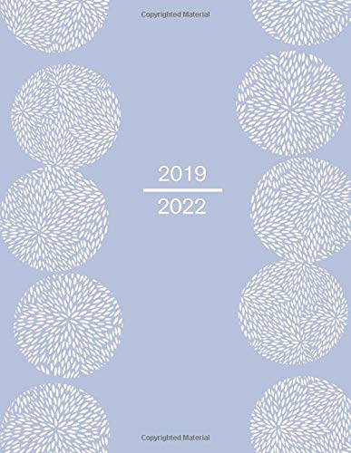 """2019 - 2022: Four - Year Monthly Planner: (Size : 8.5"""" x 11""""), 48 - Month Calendar Schedule Organizer and Hand Lettering Notebook (January 2019 - December 2022), Notes and Phone book, U.S. Holidays. Cover: Beautiful pattern"""
