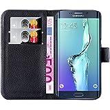 Hochwertige Kunst-Leder-Hülle mit Magnetverschluss für Samsung Galaxy S6 Edge von mangao® Case Handytaschen