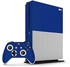 GADGETS WRAP Xbox One S Blue Carbon Skin for Console & Controller