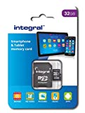 Integral 32 GB microSDHC Class 10 Memory Card for Smartphones and Tablets up to 90 MB/s, U1 Rating