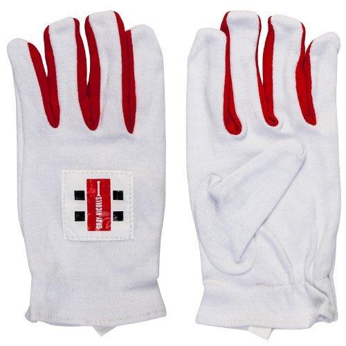 GRAY NICOLLS Cricket Full Finger Vlies Innen Handschuhe Match Baumwolle Inners