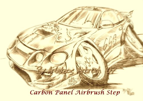 airbrush-tutorial-carbon-panel-artekaos-airbrush-airbrush-steps-book-1-english-edition