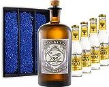 Gin Tonic Geschenkset - Monkey 47 Schwarzwald Gin 0,5l (47% Vol) + 4x Fever Tree Tonic Water 200ml inkl. Pfand MEHRWEG -[Enthält Sulfite]