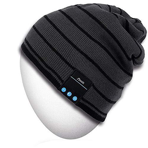 Bluetooth Hut, Mydeal Erwachsene Unisex Modisch weiche warme Beanie Skully Hut mit Drahtloser Kopfhörer Lautsprecher Mic freihändig, Weihnachtsgeschenk für Winter Outdoor Sport Ski Snowboard - ()