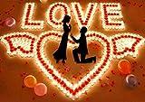 Ailiebhaus 50er herzförmige Kerzen, rauchfreie Teelichter, für Geburtstag, Vorschlag,Hochzeit,Party, Rot, Hochzeit Verlobung, Valentinstag (Rosa) - 9