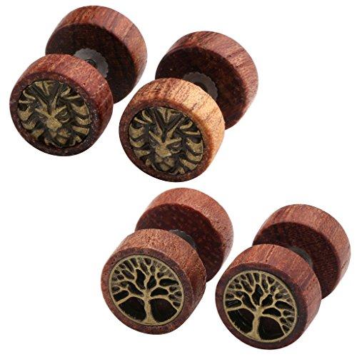 jovivi-organic-sono-wood-lion-head-tree-of-life-cheater-fake-ear-plugs-gauges-10mm-illusion-screw-st