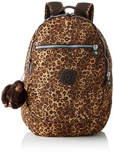 Kipling Damen CLAS CHALLENGER Rucksack, Mehrfarbig (Mixed Cheetah B) 26x36x21 cm