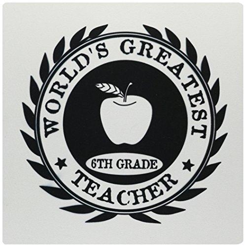 3drose Worlds Greatest 6. Klasse Teacher Award sechsten Klasse 6Dankeschön Geschenk Maus Pad (MP _ 165019_ 1) (Award Image)