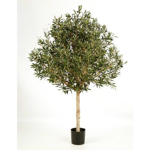 Künstlicher Olivenbaum-Hochstamm mit 13728 Blättern, 210 cm - Kunstbaum / Dekobaum