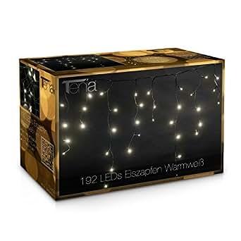 192 lichterkette lichtervorhang eiszapfen eisregen innen au en weihnachten 4 meter warmwei. Black Bedroom Furniture Sets. Home Design Ideas