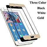 QAWACHH Tempered Glass For One Plus 3/3t Gold colour(Covered Full Screen)(Buy1 Get1) (Free Wipes Kit)