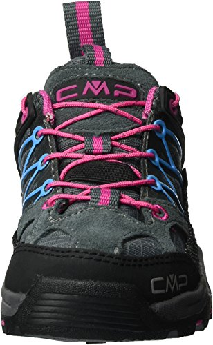 C.P.M. Rigel, Chaussures de Randonnée Basses Mixte Enfant Gris (Grey-fuxia-acquario)