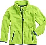 Playshoes Mädchen Jacke Fleece farbig abgesetzt, (grün 29), 92