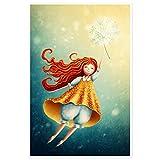 Topposter Poster für Kinderzimmer - Mädchen mit Pusteblume (Poster in Gr. 40x60cm)