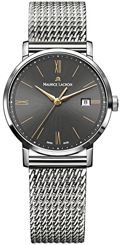 Maurice Lacroix Eliros Date Ladies Quartz Uhr, Grau, 30mm, EL1084-SS002-813-1