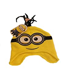 1f36cf310e2 Boys Yellow Despicable Me Minions Eyes Peruvian Hat Ages 18-24 Months