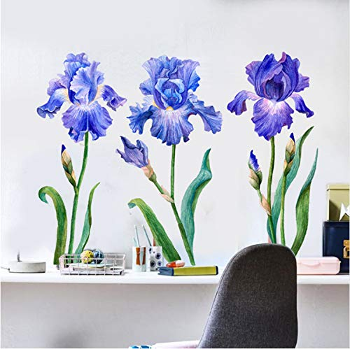 gping Malerei Iris Wanddekor Kunst Blumen Aquarell Dekoratives Bild Schlafzimmer Dekor Moderne Nordic Home Decoration Zubehör DIY -