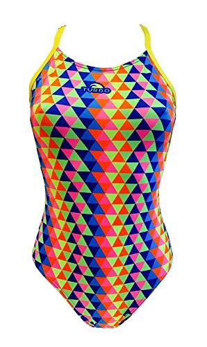Maru Badeanzug (TURBO Schwimmanzug TRIDIMENSION Pro Racer Sport-Badeanzug bunt (dt. Gr. 36 / Turbo)