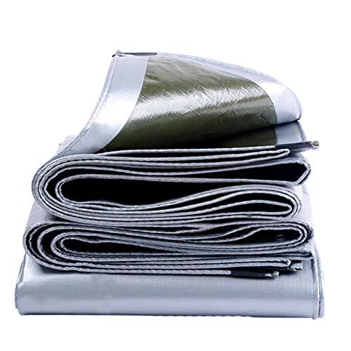 Parasol a prueba de lluvia de protección solar espesamiento impermeable toldo de lona del coche pabellón de plástico PVC lona (Tamaño : 5 * 6m)
