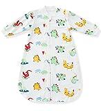 Fairy Baby langarm kleinkind schlafsack mit ärmeln baumwolle thermo baby Schlafsäcke 80 cm, Krokodil, ca. 3,5 Tog