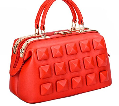 Borsa A Tracolla Tote Bag Donna Elegante Borsa Shopper Borsa In Pelle PU Borsa A Mano Da Donna Red01