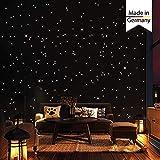 Wandtattoo-Loft 350 Punti Luce e Luminose per Cielo Stellato - Autoadesivo e Fluorescente - extra Forte Luminosità