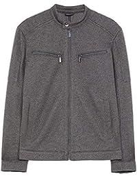 feafbd97 Zara Men's Piqu? Biker Jacket 0706/490 Grey