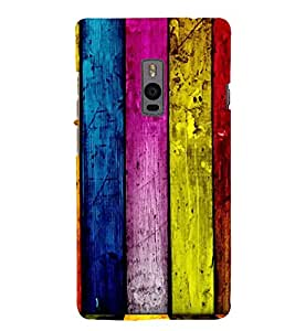 printtech Colored Wooden Pattern Back Case Cover for OnePlus Two / One plus two / Oneplus 2 / One Plus 2